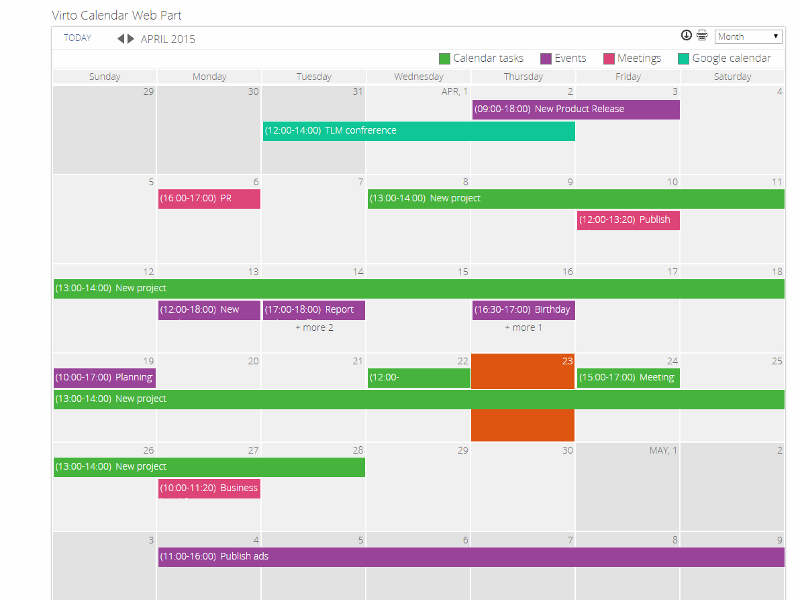 Product Review  Virto Sharepoint Calendar Web Part
