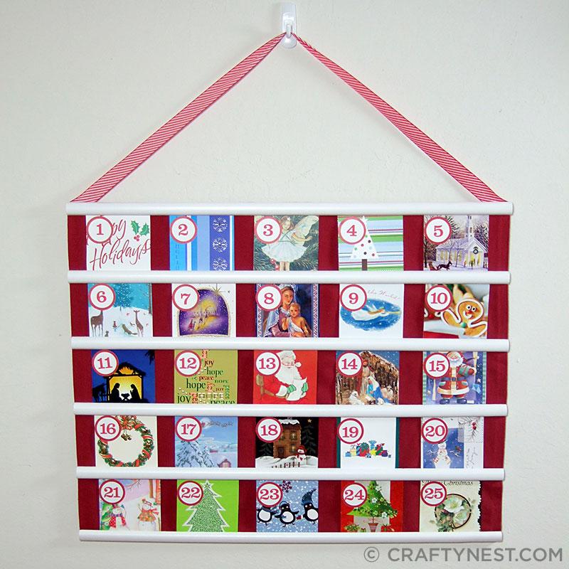 Recycled Christmas Card Advent Calendar