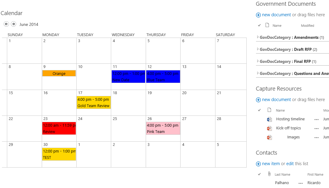 Sharepoint calendar color coding calendar template 2018 for Color coded calendar template
