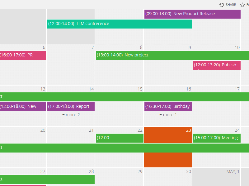 Sharepoint Calendar Web Part