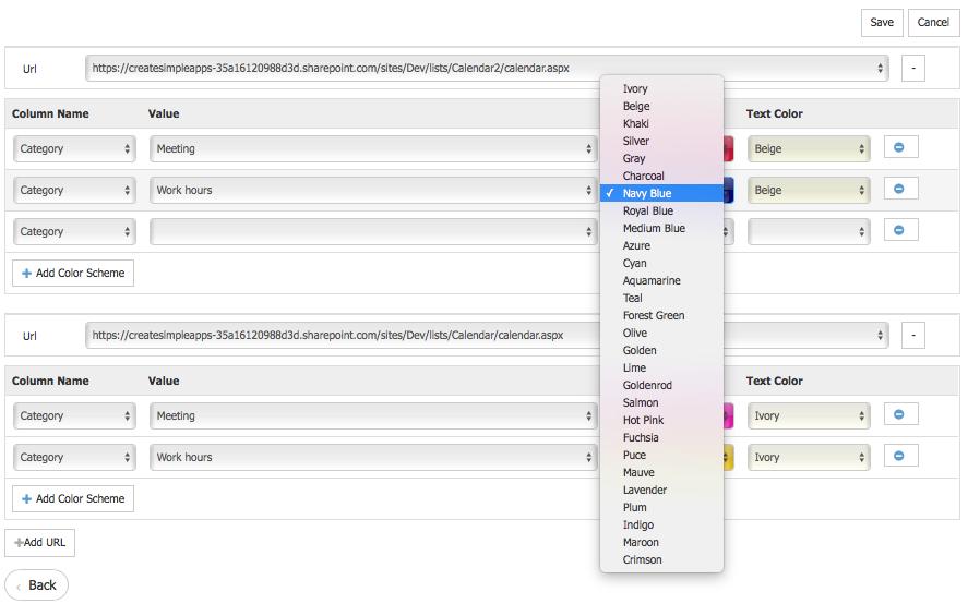 Sharepoint Color Calendar Web Part