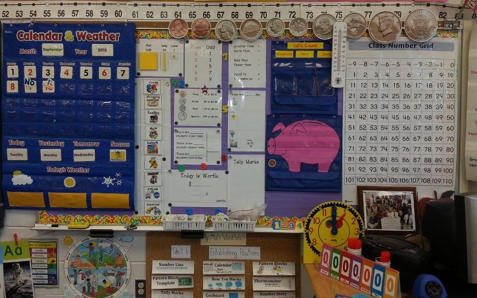 Smartboard Calendar Math First Grade