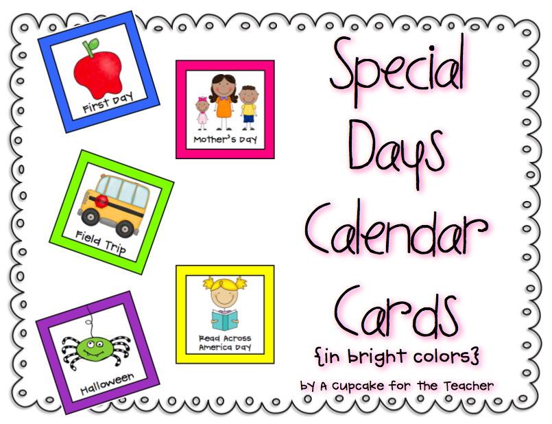 Special Days Calendar Cards And Day 3 4 Of Giveaways!