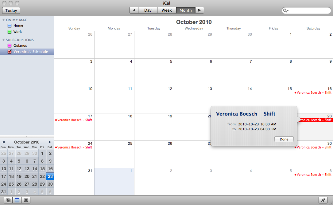 Sync Schedules With Google Calendar And Ical