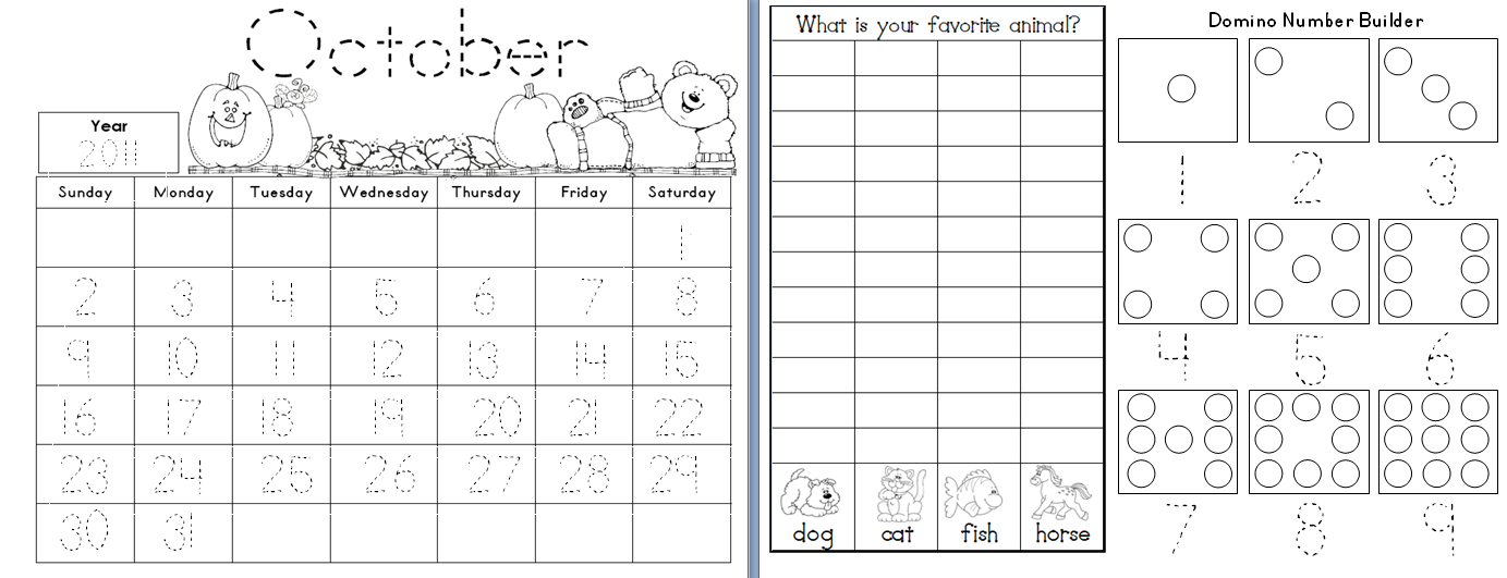 Calendar For Kindergarten Worksheets : Calendar activities for kindergarten template