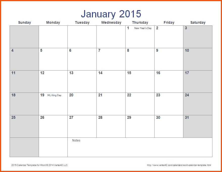 12+ Ms Word Calendar Template