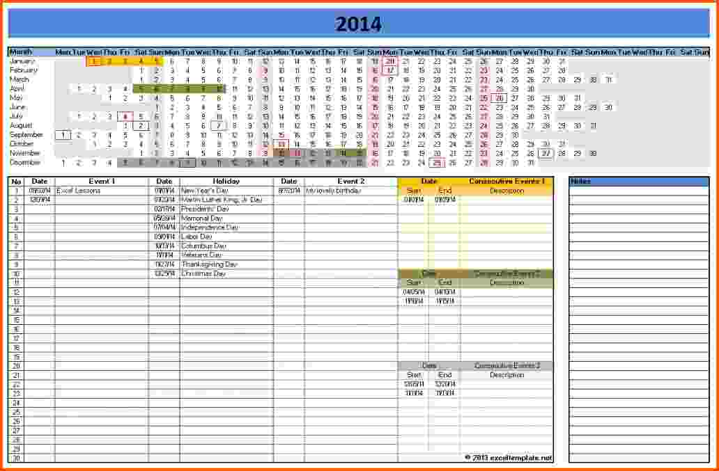 12+ Office Calendar Template