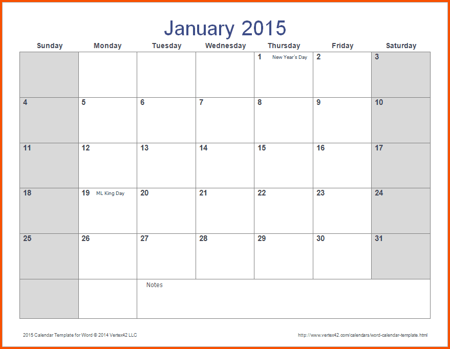 14+ Ms Word Calendar