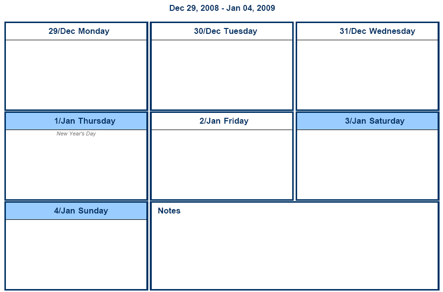 1 Week Schedule Template  Free Weekly Schedule Template For Excel