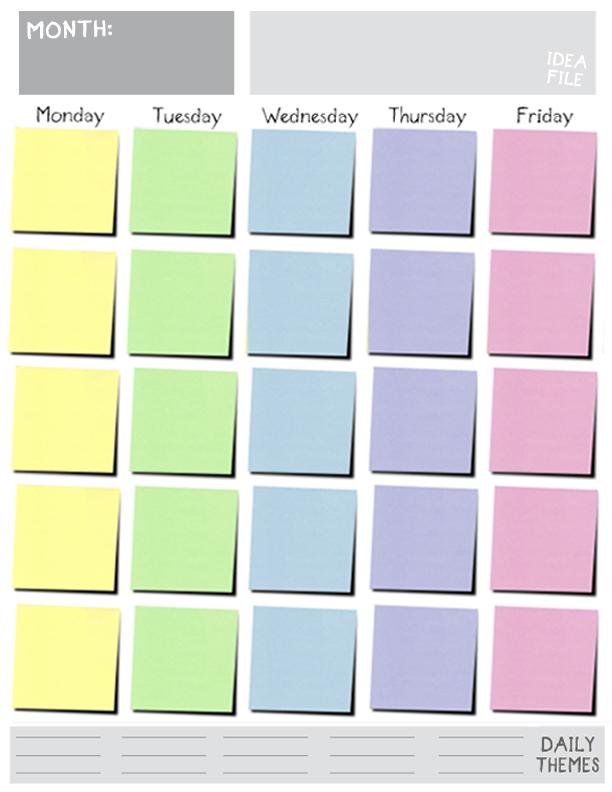 5 Day Weekly Calendar – 2017 Calendar