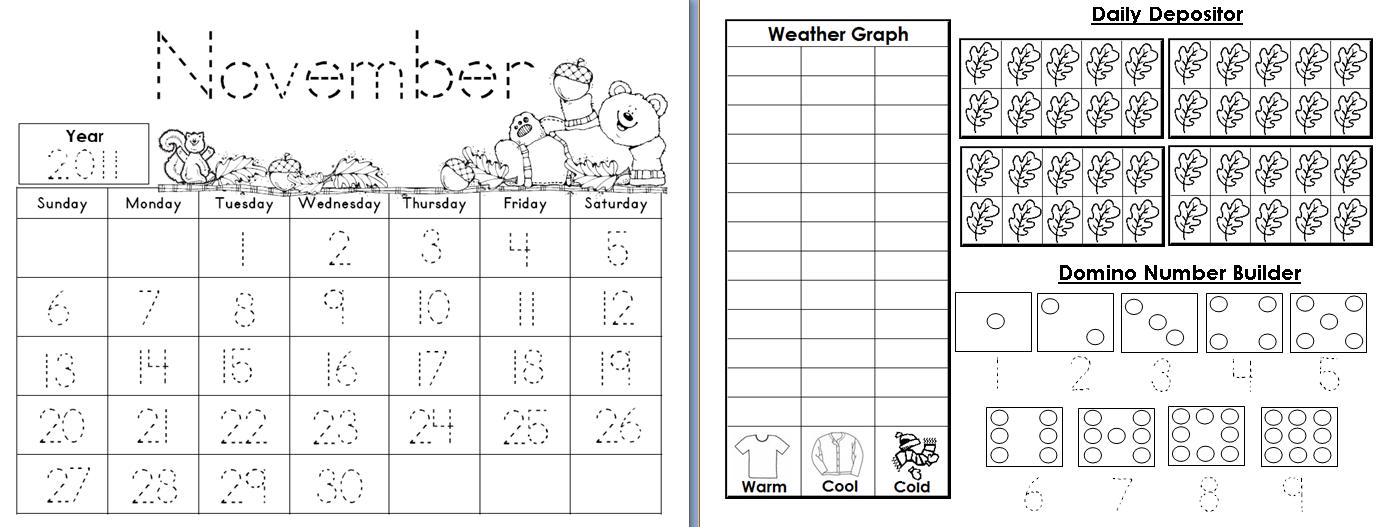Aloha Kindergarten!  Calendar Math Journals