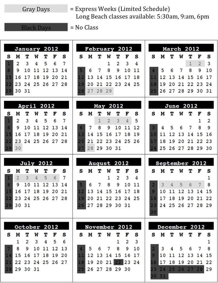 At Glance Calendar
