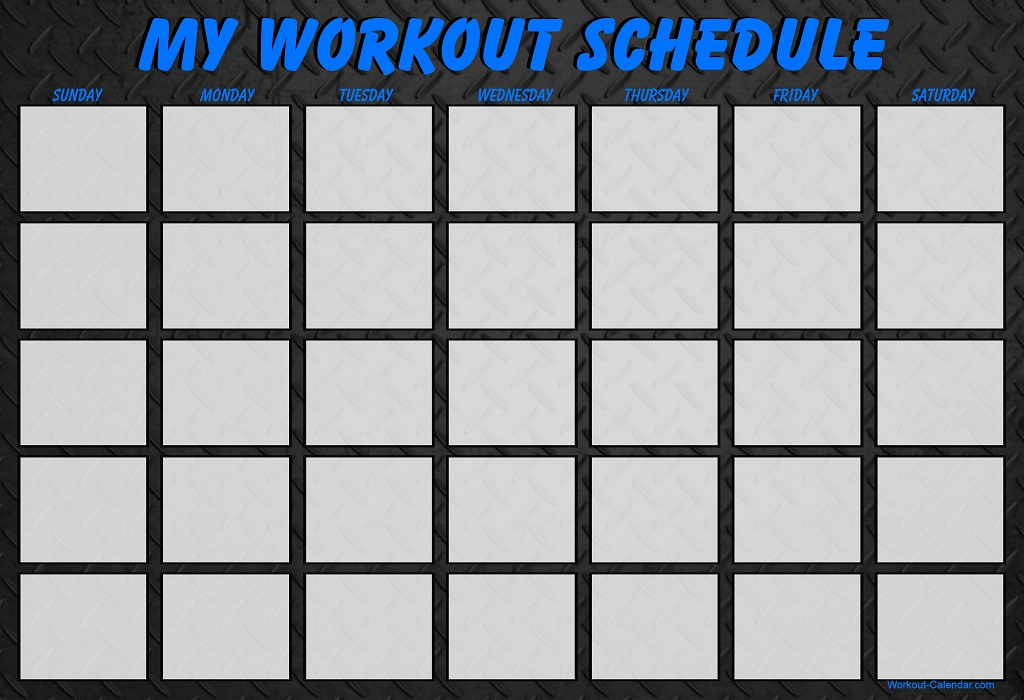 30 Day Workout Calendar » Calendar Template 2017