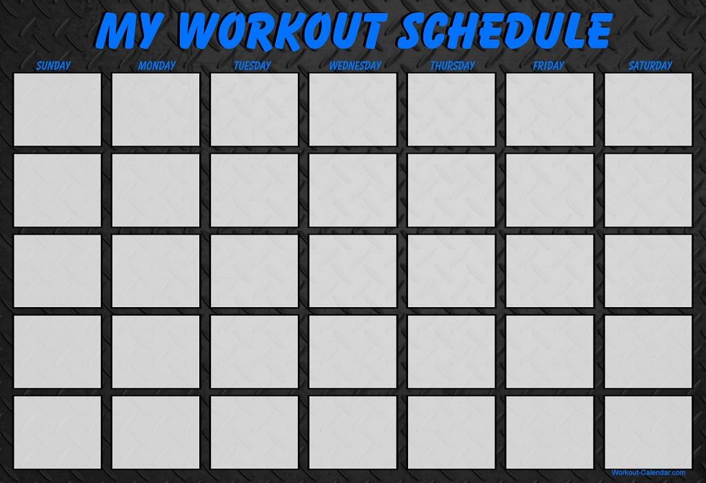 Best Photos Of Blank Workout Calendar
