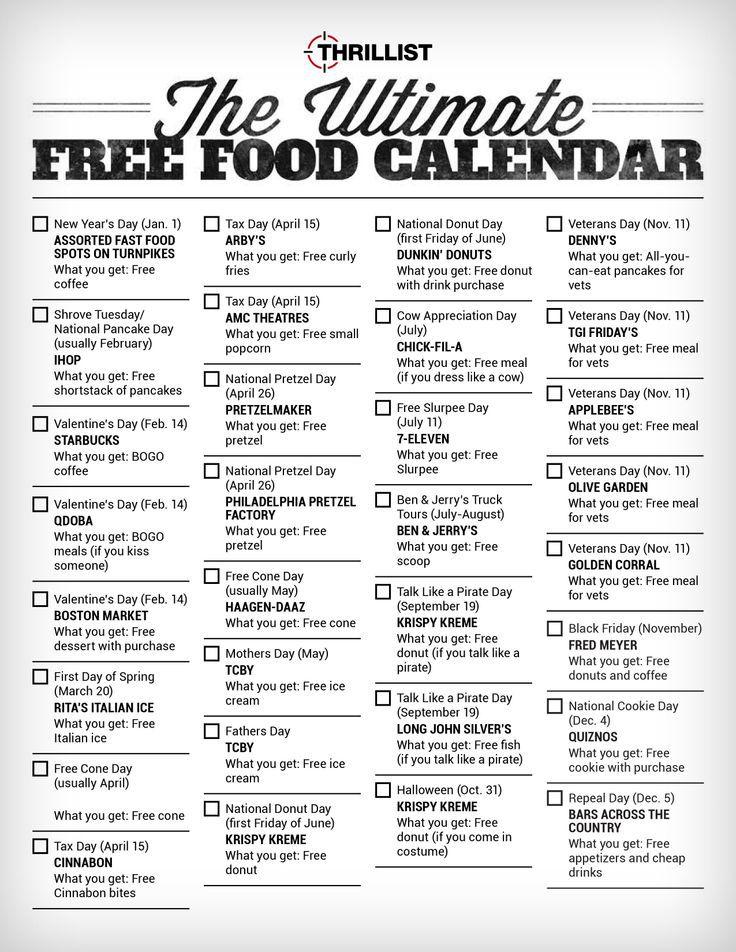 April Calendar National Days : Calendar of national days template