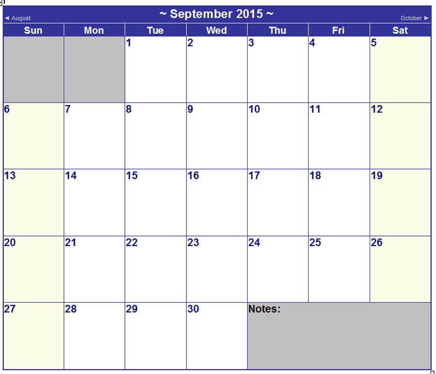 Free Printable Word Calendar