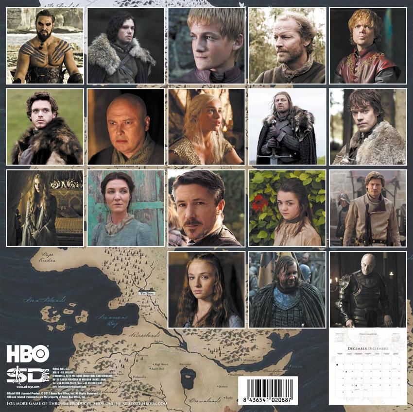 Game Of Thrones Calendar