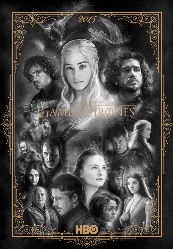 Hbo Game Of Thrones 2015 Calendar Art On Behance
