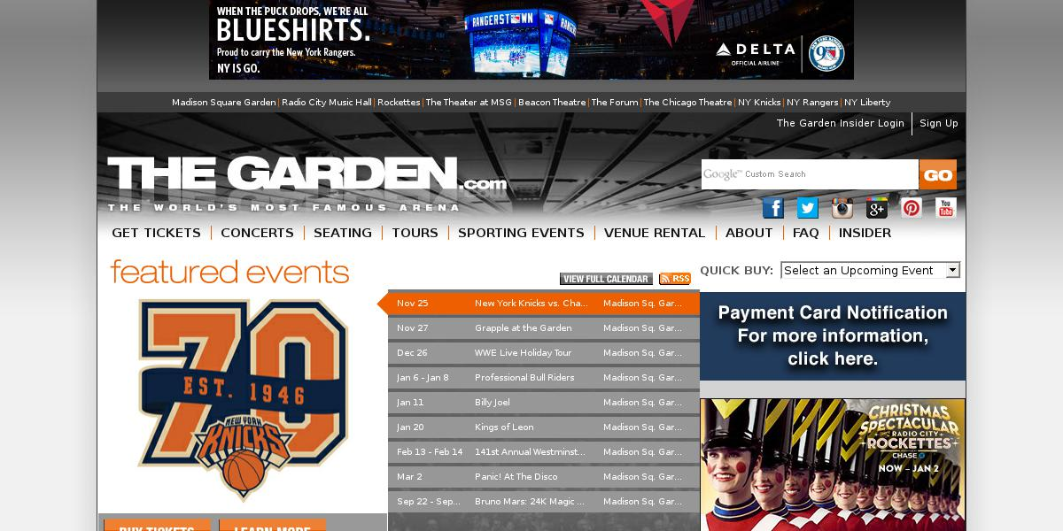 Madison Sq Garden Schedule