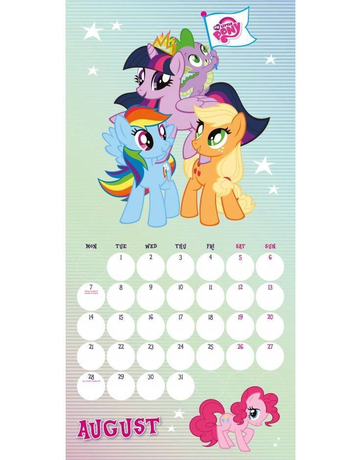 My Little Pony Official 2017 Colouring Calendar