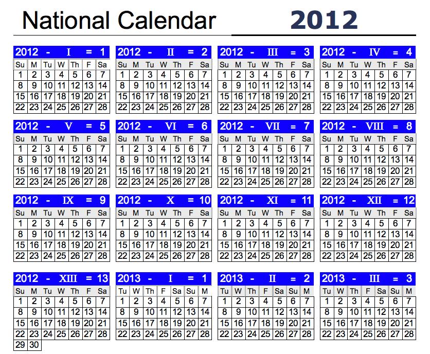 National Day Calendar Printable