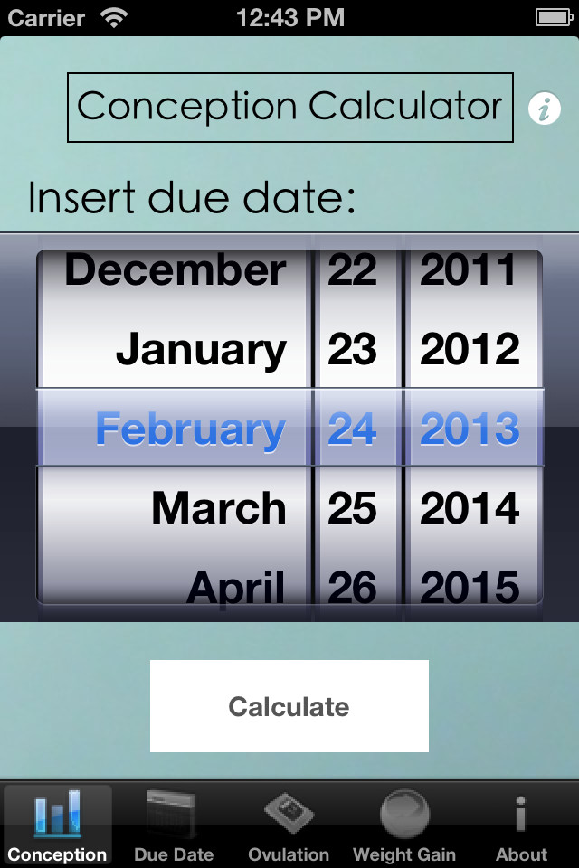 Pregnancy Due Date Calculator Conception Date — Fitness Exercises
