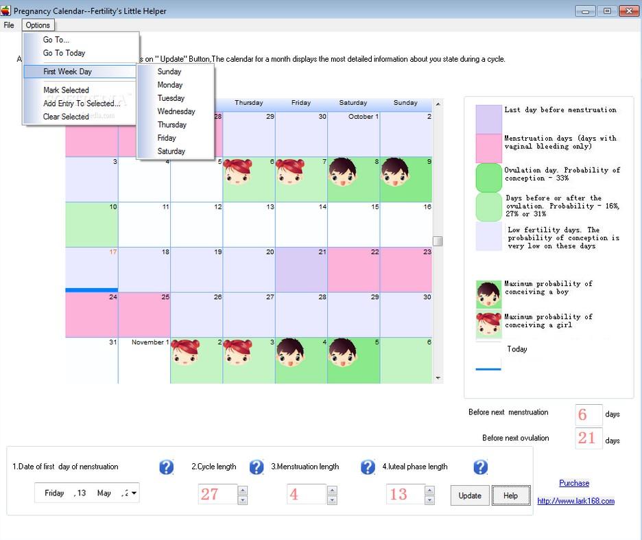Pregnancy Weekly Calendar Due Date