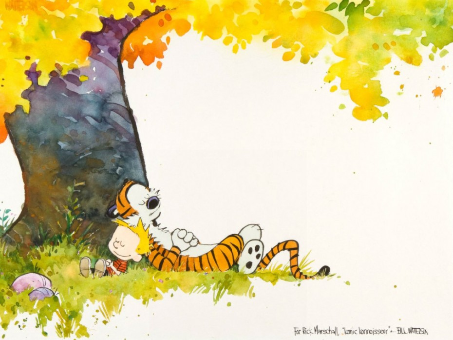 Rare Calvin & Hobbes Art Print Up For Auction