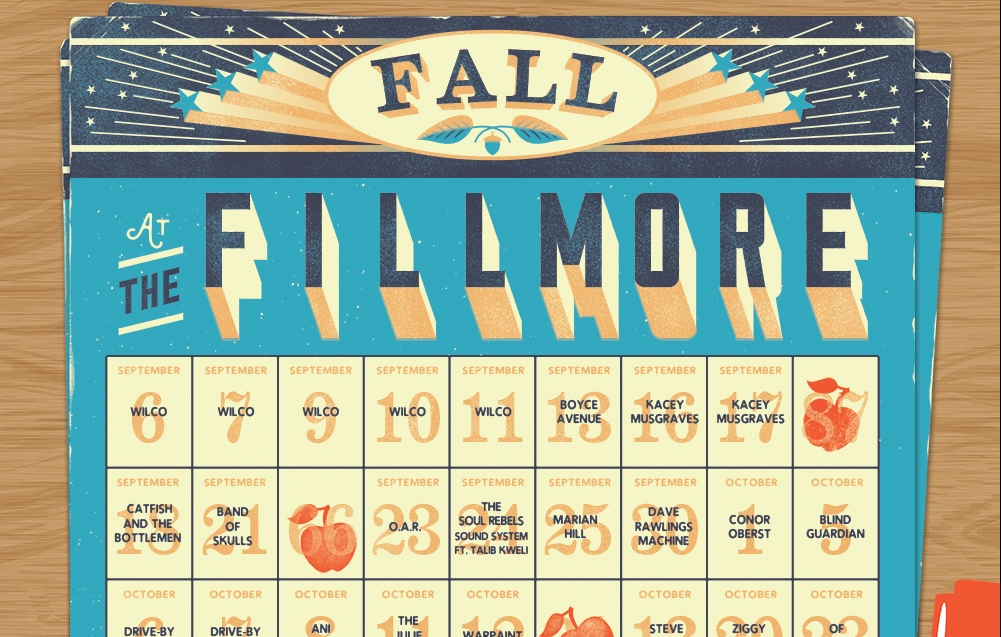 Sponsored  Get Ready For Fall At The Fillmore
