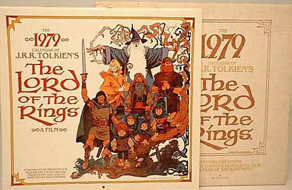 Tolkien And Lord Of The Rings Calendars For Years 1973