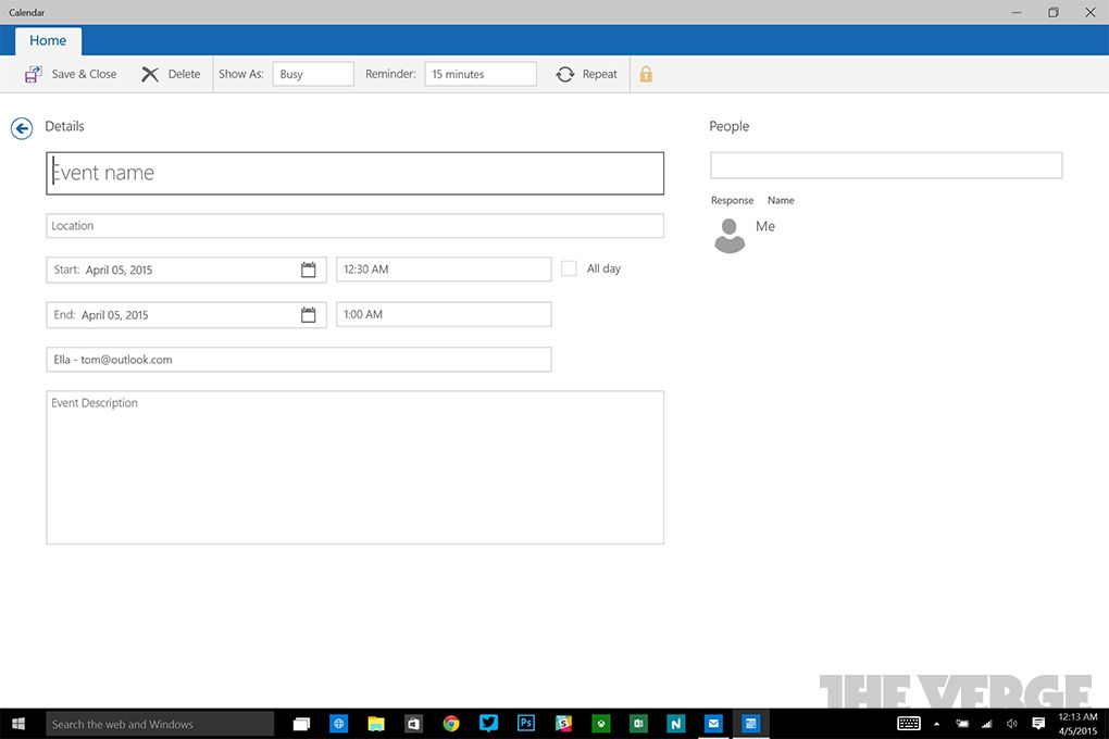 Windows 10  First Look At New Mail, Calendar Apps