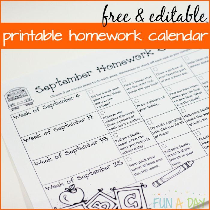 1000+ Ideas About Kindergarten Homework On Pinterest