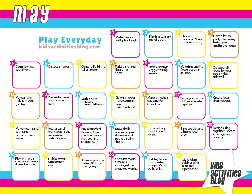 Calendar Ideas For Ks : Calendar activities for kids template