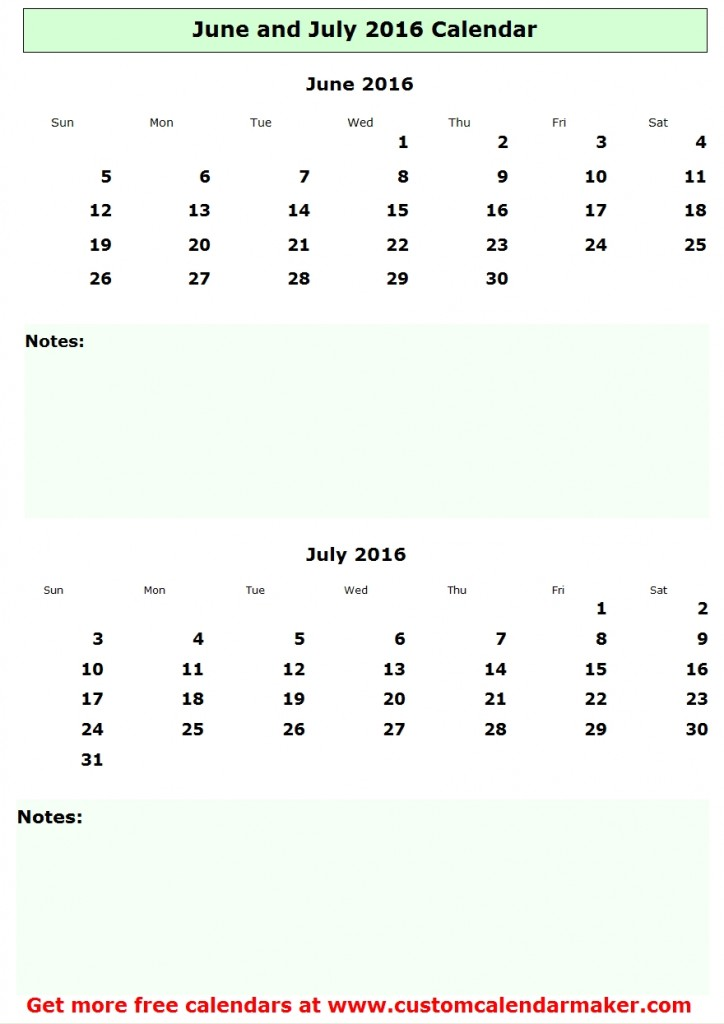 2016 June July