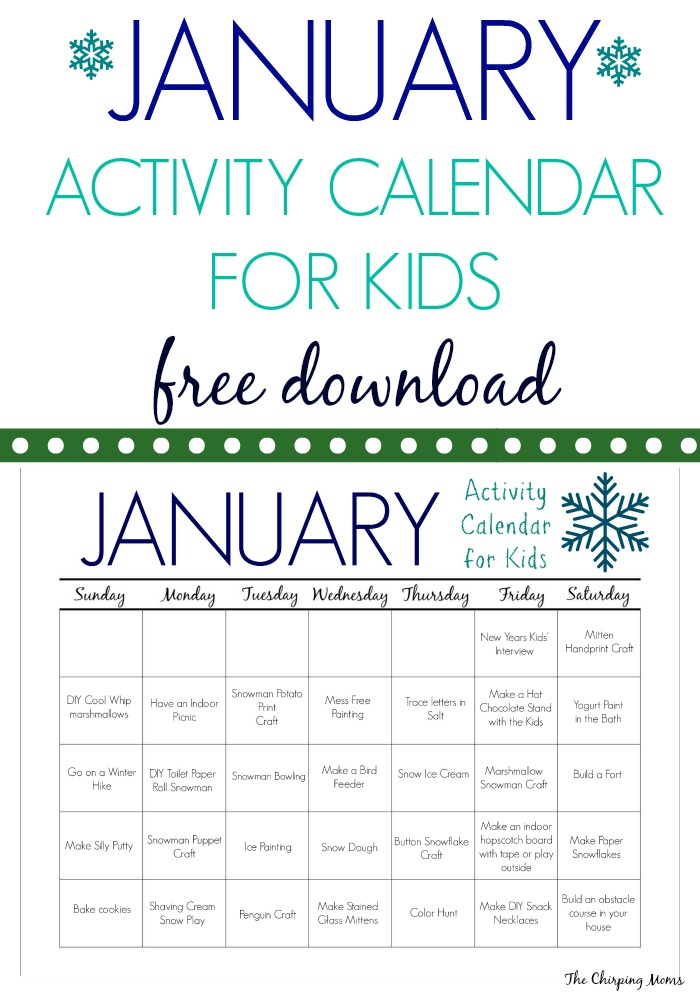 Calendar Ideas For Ks : Calendar activities for kids template