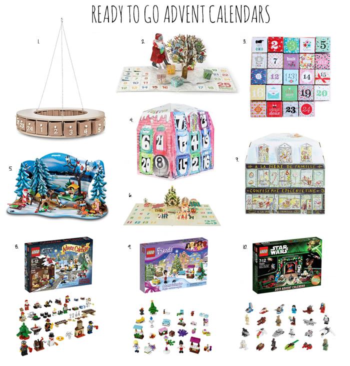 Advent Calendar Ideas For Girls : Advent calendar gift ideas template