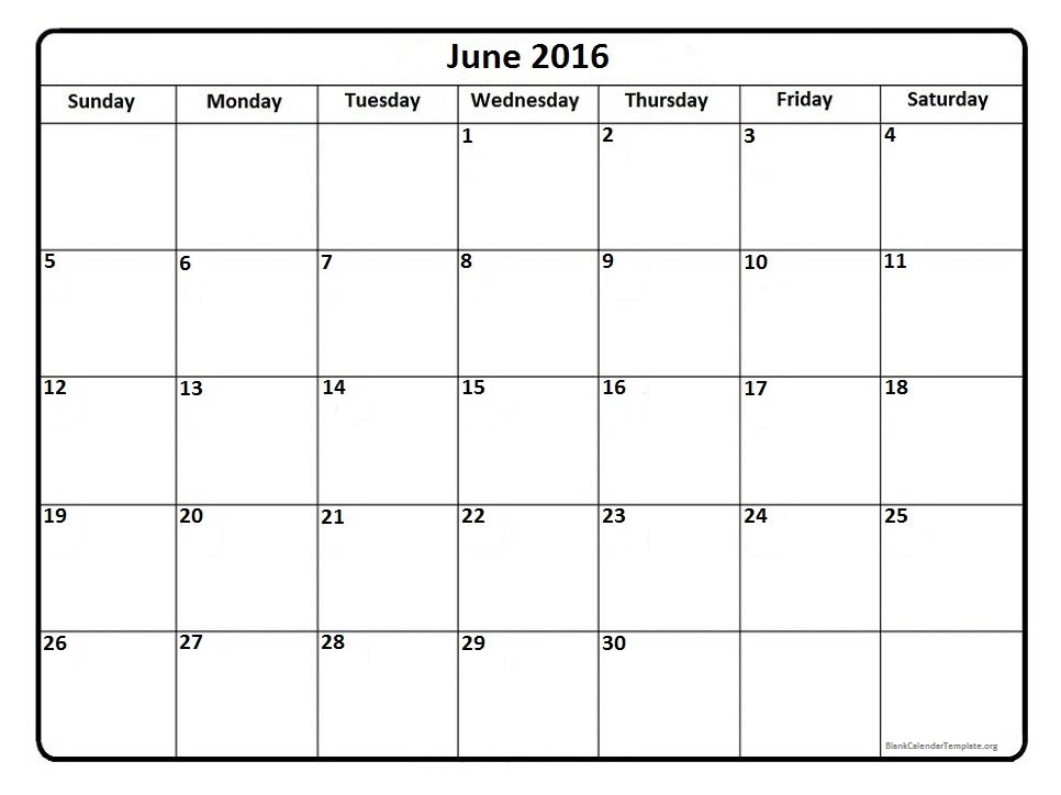 And July 2016 Calendar Template