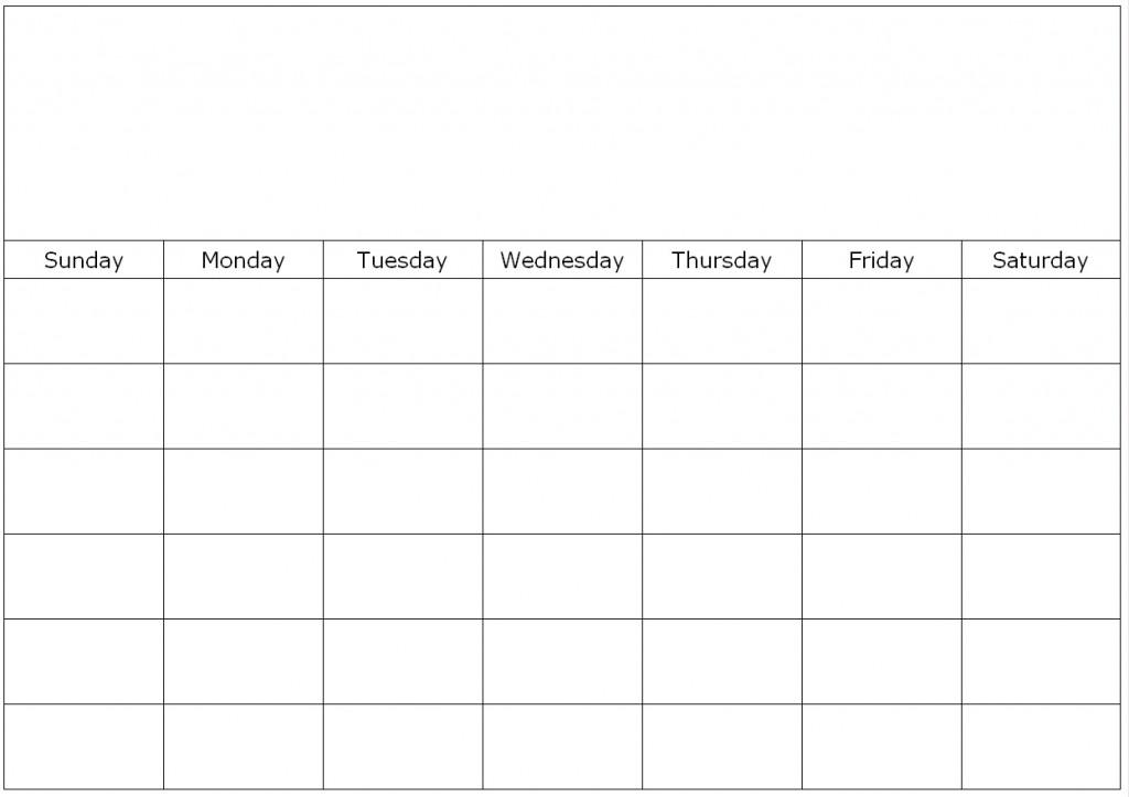 Blank Calendar 6 Weeks – Printable Calendar 2017