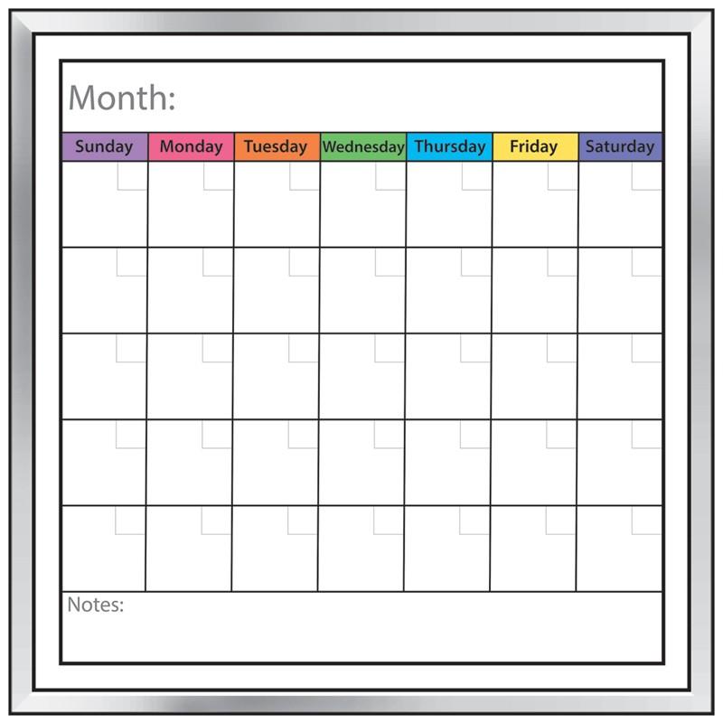 Dry Erase Calendar Template : Calendar dry erase board template
