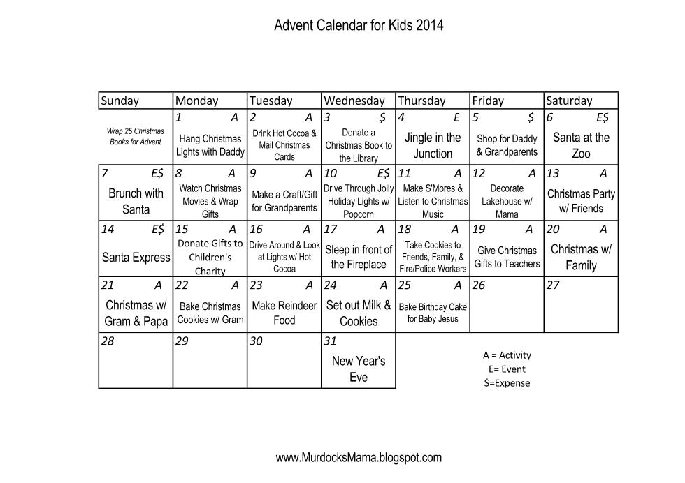 Murdocks Mama  Advent Calendar