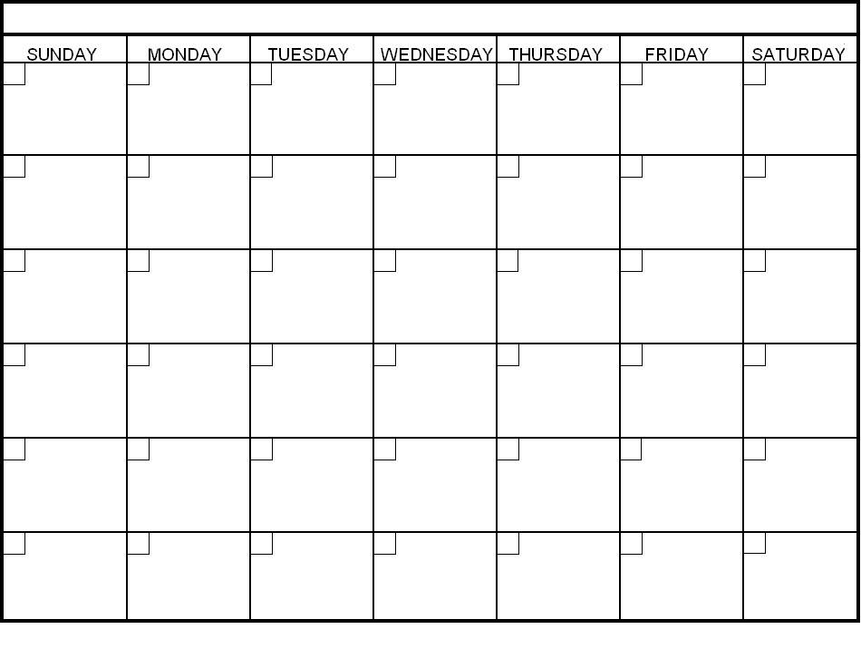 Blank 30 Day Calendar Template – Printable Calendar 2017