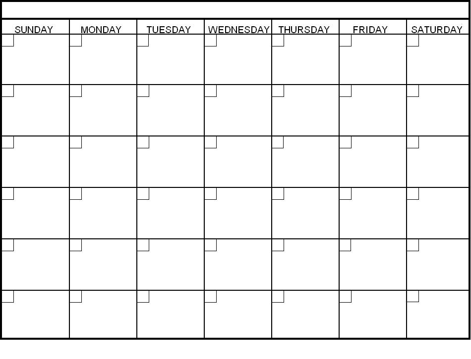 Blank 6 Month Calendar Template – Printable Calendar 2017