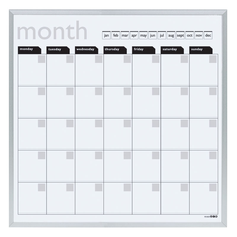 Effortless Dry Erase Calendar Board — Home Designs