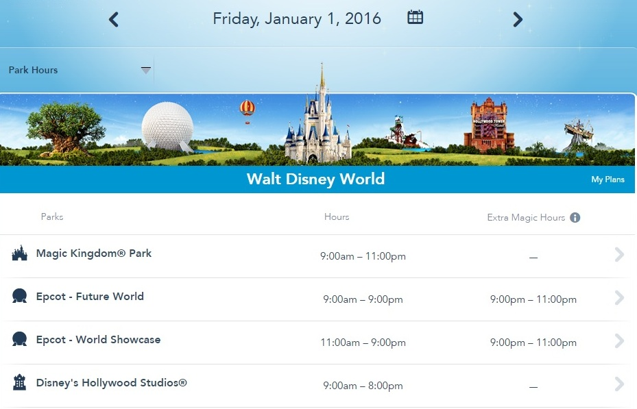 Extra Magic Hours Are Back On The Disney Calendar For 2016
