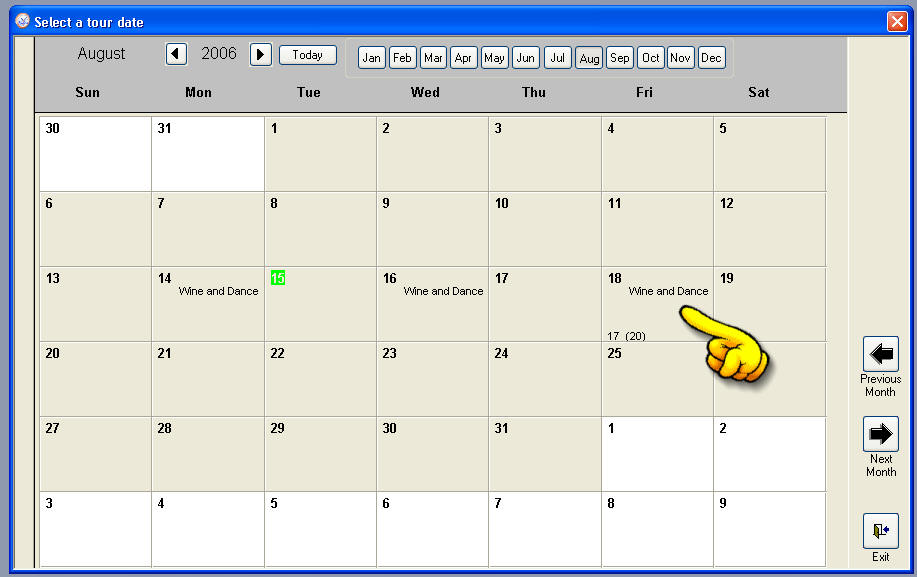 Microsoft Calendar Template. Understated Theme Monthly Horizontal