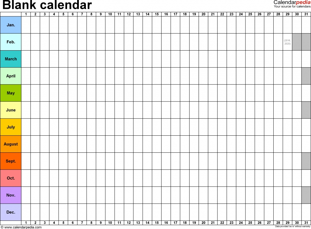 Blank Calendar 9 Free Printable Microsoft Word Templates Mark Your Calendar Templates