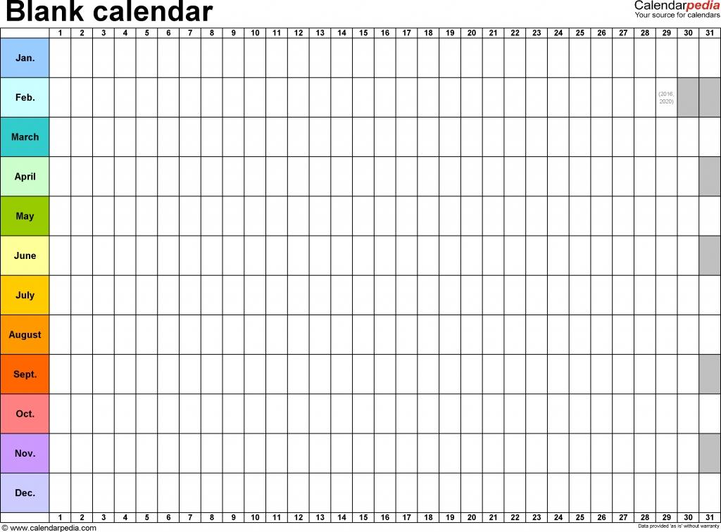 Blank Calendar 9 Free Printable Microsoft Word Templates Mark Your Calendar Templates