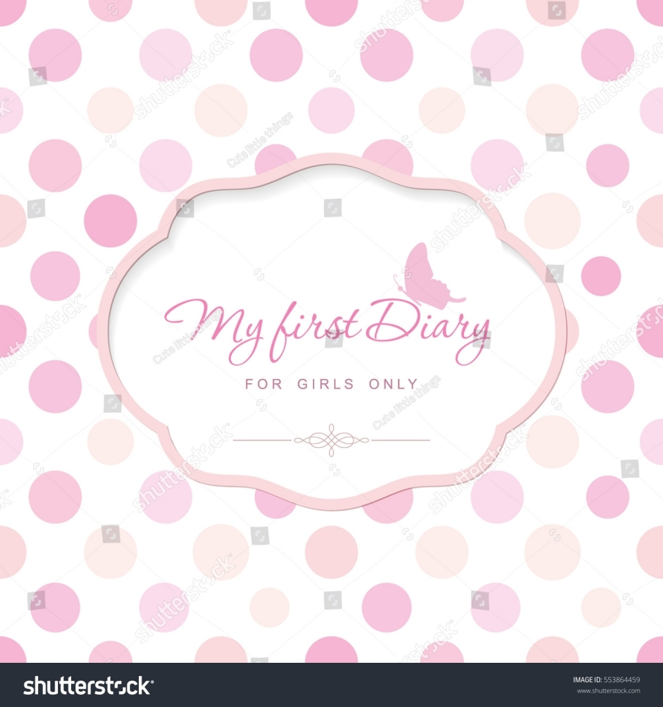 Cute Template Notebook Cover Girls My Stock Vector 2018 Girl Diary Template