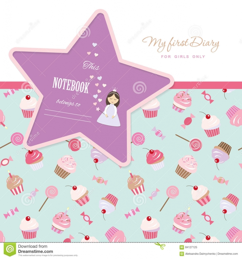 Diary Stock Illustrations 47560 Diary Stock Illustrations Girl Diary Template