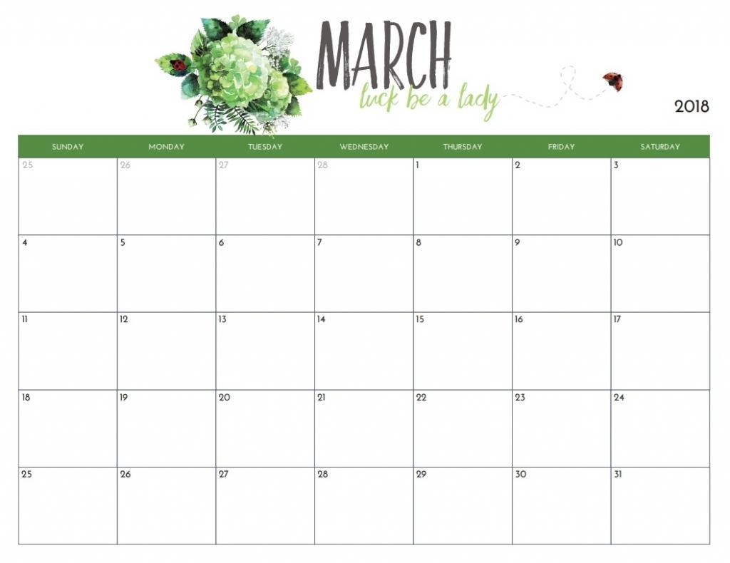 editable march 2018 calendar